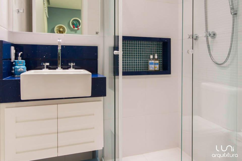 decoracao de interiores para banheiro:Projeto de Arquitetura para Banheiro de Criança MeninoLuni