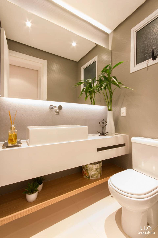 Lavabo projeto luni arquitetura e decora o for Ideas para lavabos pequenos