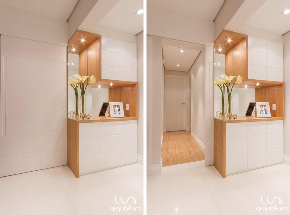 Aparador Alto Branco ~ Hall de Entrada Arquitetura, Iluminaç u00e3o e Decoraç u00e3o