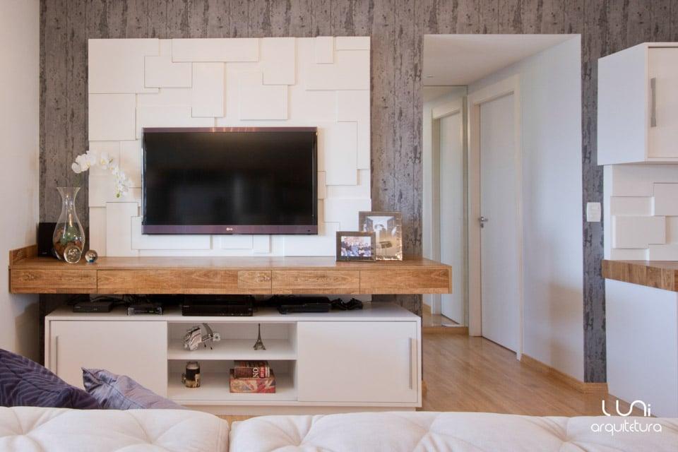 Sala de TV  Projeto para Sala de TV de ApartamentoLuni Arquitetura e