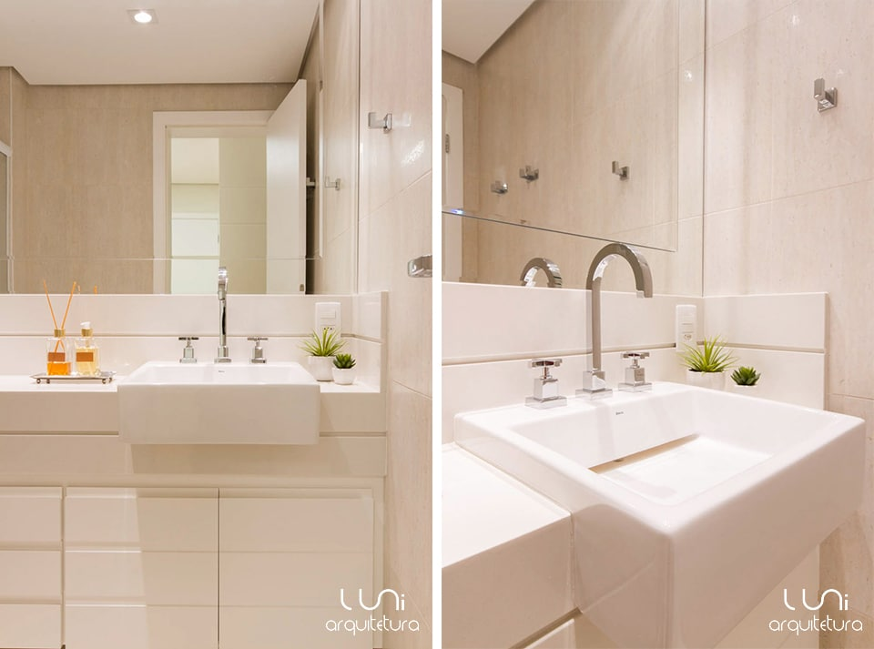 Banheiro Casal  Projeto de Luni Arquitetura e Decoração -> Decoracao De Banheiro Pequeno De Casal