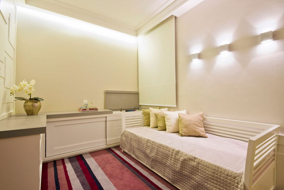 Quarto Com Sala De Tv ~  em projetos inovadores de Arquitetura e Decoração de Interiores