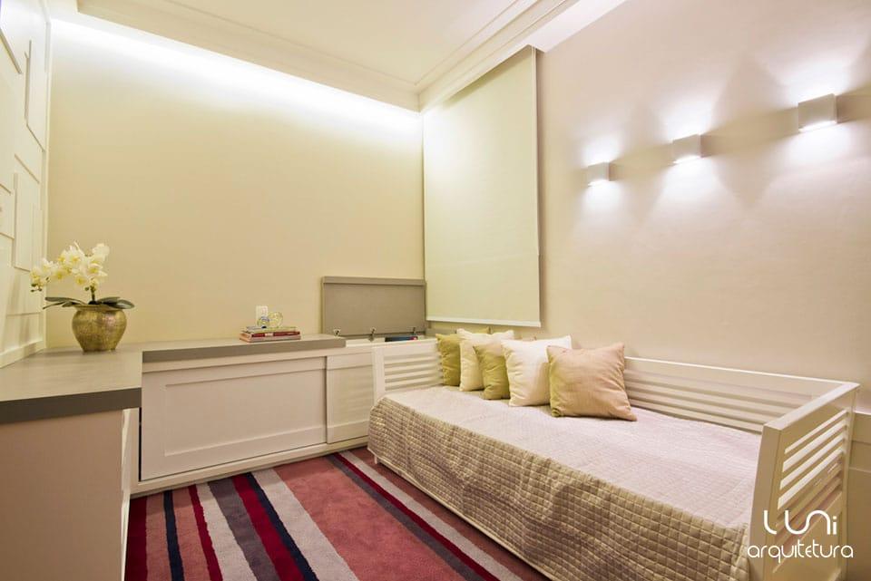 Sala Tv Quarto Hospedes ~ Luni Arquitetura e Decoração  Escritório especializado em projetos