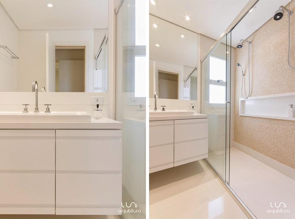 Banheiro Suite Master Casal  Apartamento Brooklin -> Nicho Banheiro Apartamento