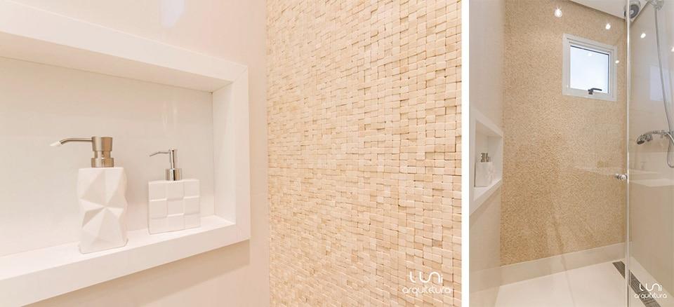 Banheiro Suite Master Casal  Apartamento Brooklin -> Banheiros Com Pastilhas De Pedra