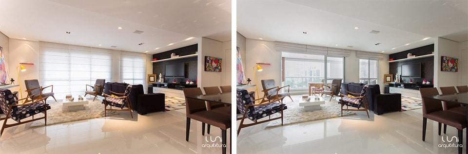 Sala de estar para apartamento   living roomluni arquitetura e ...