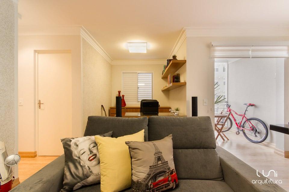 Salas De Tv Em Apartamento ~ Sala de TV para apartamento de metragem reduzida