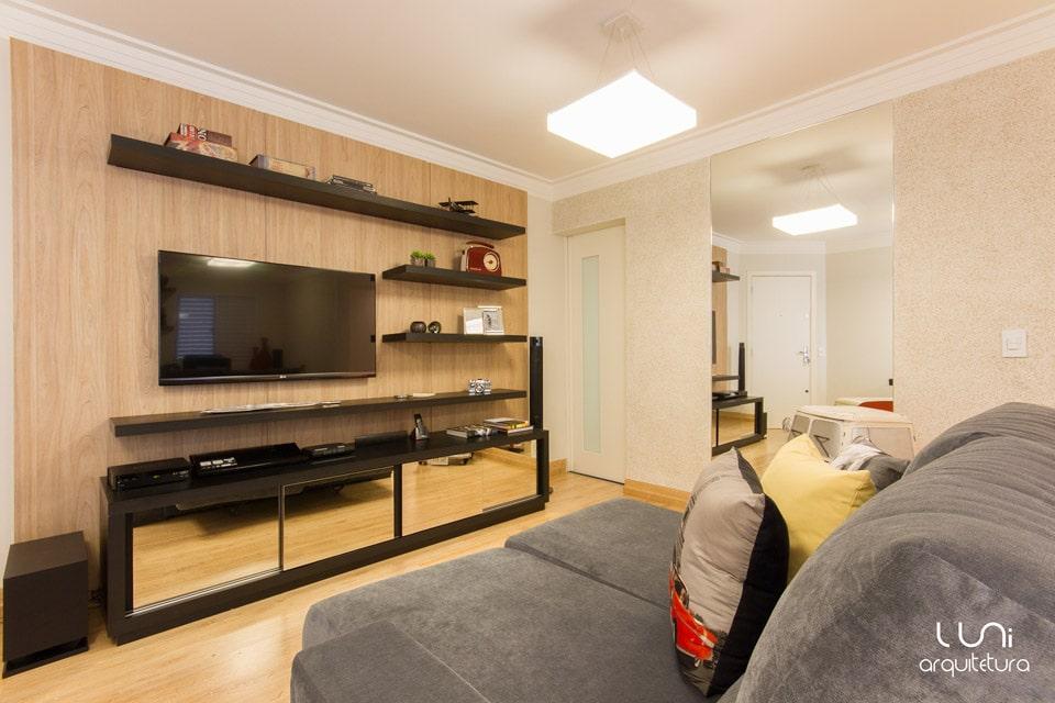 Salas De Tv Em Apartamento ~  De Tv Apartamento Pequeno ~ Várias idéias de design atraente para a