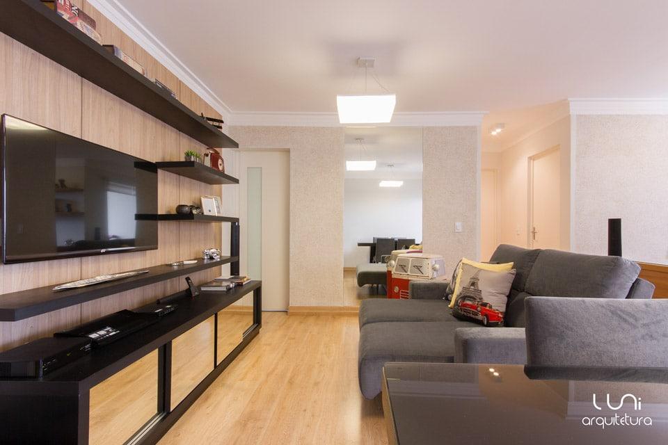 Sala De Jantar E Tv Apartamento ~ Postado em 1 de julho de 2014 9 de julho de 2014 por Luni Arquitetura