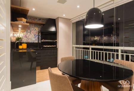 Varanda Gourmet apartamento Morumbi - Luni Arquitetura