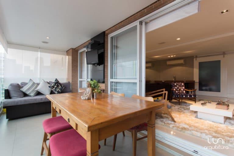 varanda gourmet integrada projeto apartamento brooklin